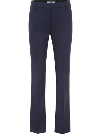 Prada Formal Trousers With Logo