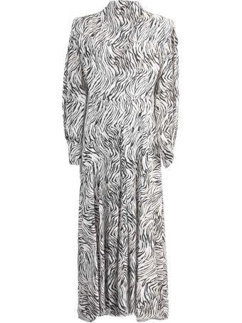 Isabel Marant Printed Silk Blend Long Dress