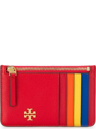 Tory Burch Color-block Card Holder