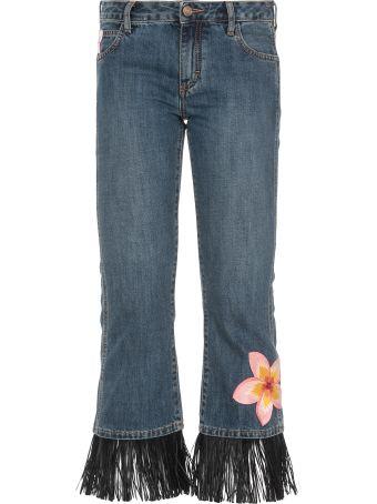 Alanui Hawaiian Flowers Jeans