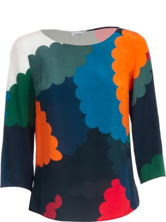 Akris Punto Color Block Fitted Blouse