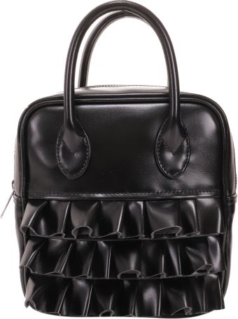 Comme Des Garçons Girl Black Faux Leather Bag