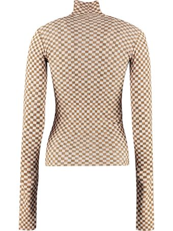Nanushka Harri Printed Long-sleeve Top