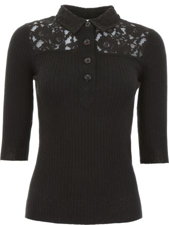 See by Chloé Polo Shirt With Lace