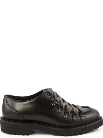 Doucal's Brown Leather Laced Shoes