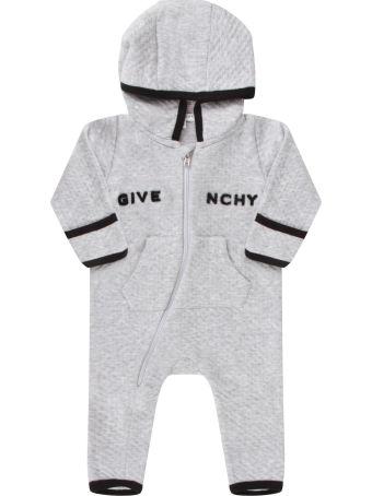 Givenchy Grey Babygrow For Babykids With Logo
