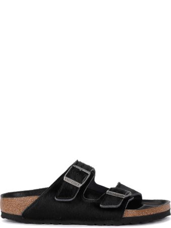 Birkenstock Arizona Black Cow Hair Sandal - Premium