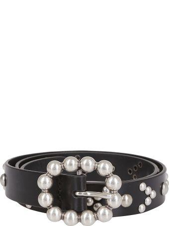 Orciani Pearl Embellished Belt