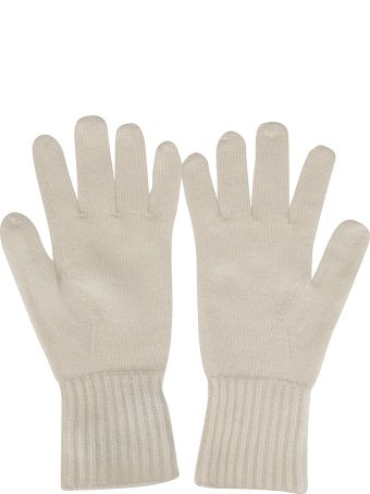 Agnona White Cashmere Gloves