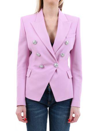 Balmain Pink Cotton Blazer