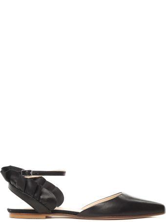 Anna Baiguera Malika Uched Leather Ballet Flats