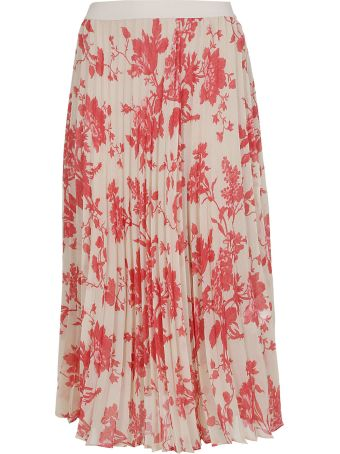 SEMICOUTURE Pleated Floral Print Skirt
