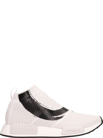 Adidas White Fabric Sneakers Nmd_cs1 In White Fabric