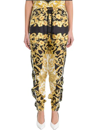 Versace Baroque Silk Track Pants