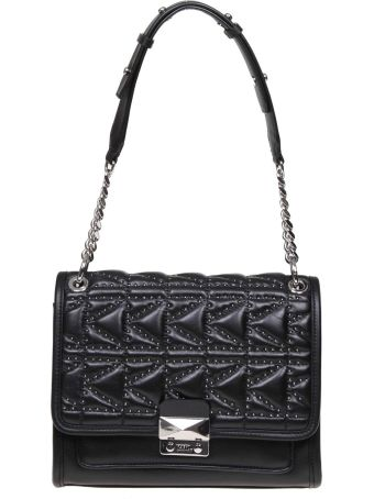 Karl Lagerfeld K / Kuilted Hand Bag With Studs