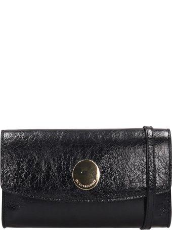 L'Autre Chose Continental Wallet Black Leather