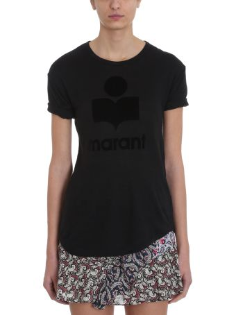 Isabel Marant Étoile Koldi Black Linen And Cotton T-shirt