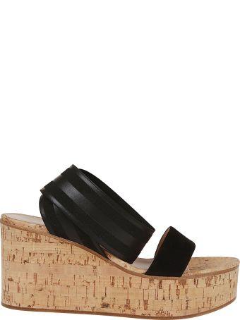 Gianvito Rossi Twirl Strap Wedge Sandals