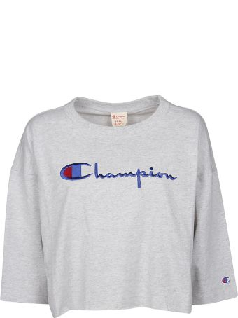Champion Cropped Embroidered Logo T-shirt