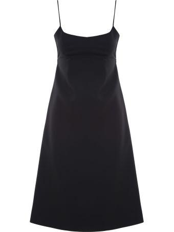 Marc Jacobs Crepe-wool Spaghetti-strap Midi Dress
