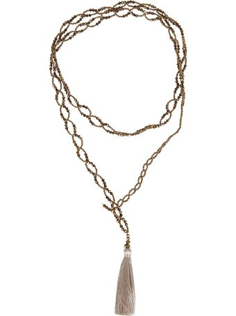 Night Market Beaded Double String Necklace