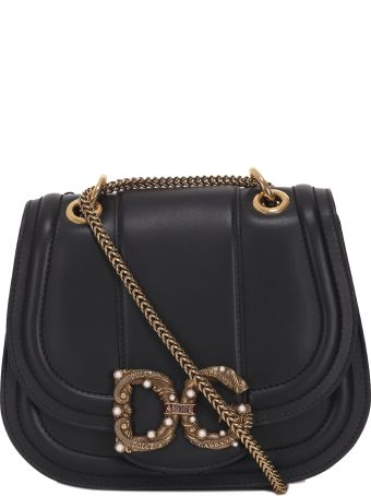 Dolce & Gabbana Black Saddle Bag