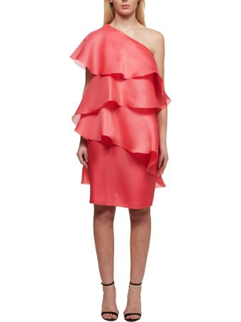 Lanvin One-shoulder Draped Wrap Dress