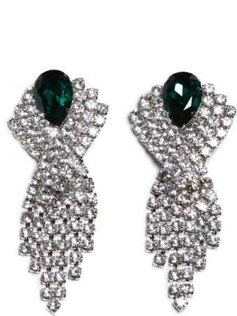 Alessandra Rich Embellished Clip-on Earrings