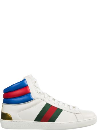 Gucci  Shoes High Top Leather Trainers Sneakers Ace