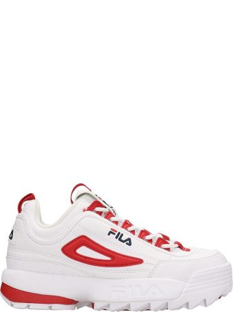 Fila Distruptor Cb Low White Leather Sneakers