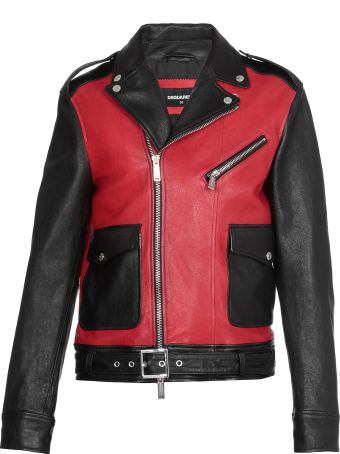 Dsquared2 Bicolor Leather Jacket