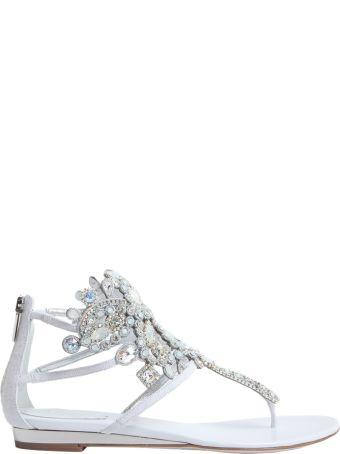 René Caovilla Crystal Embellished Flips