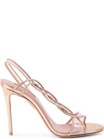 Aquazzura Gold Swing 105 Sandals