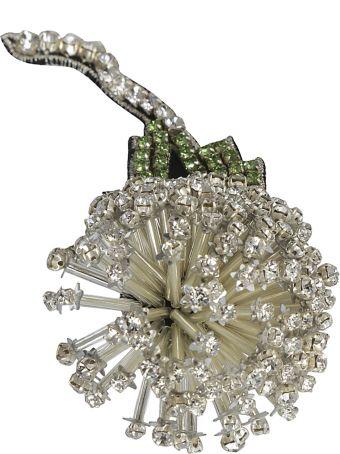Rochas Crystal Embellished Brooch