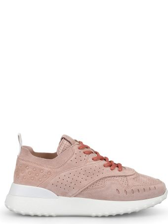 Tod's Powder Pink Suede Sporty Sneakers
