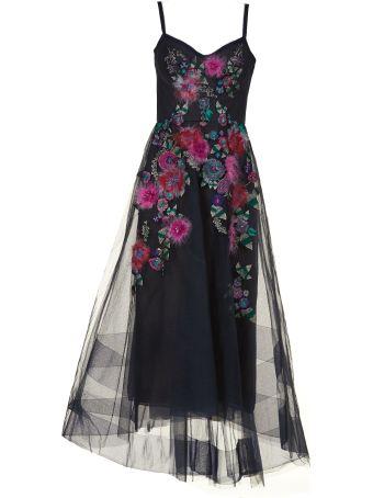 Marchesa Notte Floral Embellished Dress