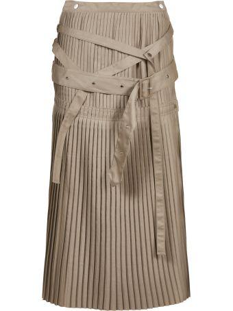 Rokh Pleated Flared Midi Skirt