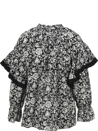 """See by Chloé See By Chloe' """"graphic Peonies"""" Printed Blouse"""