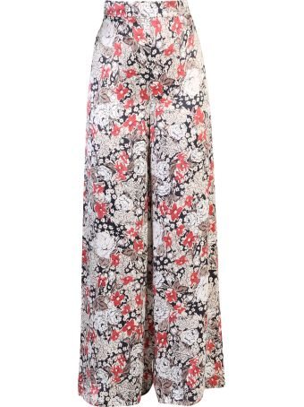 Ganni Floral Print Viscose Trousers
