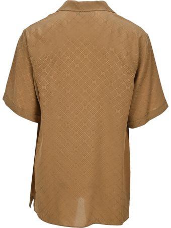 Gucci Check Gg Silk Crêpe Bowling Shirt