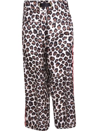 White Sand Leopard Print Trousers