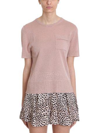 L'Autre Chose Pink Lurex T-shirt