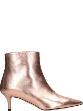 Marc Ellis Metal Bronze Calf Leather Ankle Boots