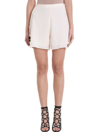 See by Chloé Lace Beige Crepe Short