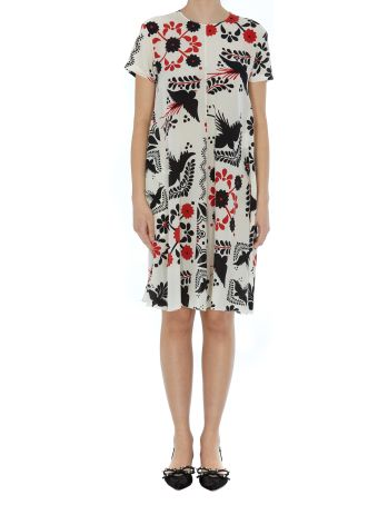 RED Valentino Decorated Terrace Print Dress