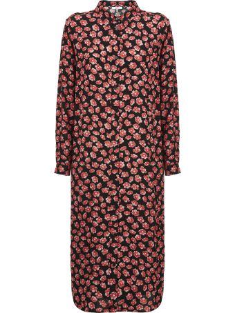 Ganni Floral Print Long Short Dress