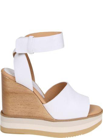 Paloma Barcelò Paloma Barcelo Ayaka Sandal In White Leather