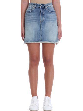 Calvin Klein Jeans Blue Denim Skirt