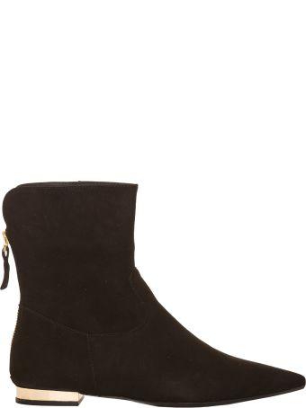 Anna Baiguera Annadoria Akle Boots With Gold Heels