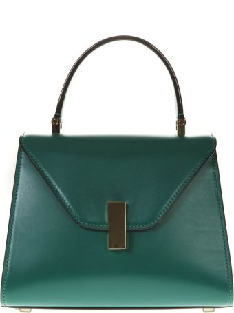 Valextra Emerald Green Iside Tote Bag In Leather
